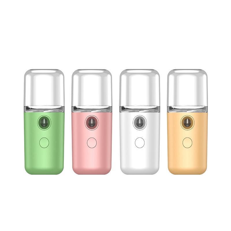 USB شحن نانو الوجه الباخرة المحمولة الوجه زجاجة رذاذ مرطب الوجه البخاخ الجلد أدوات تزيين وتجميل HHA1379
