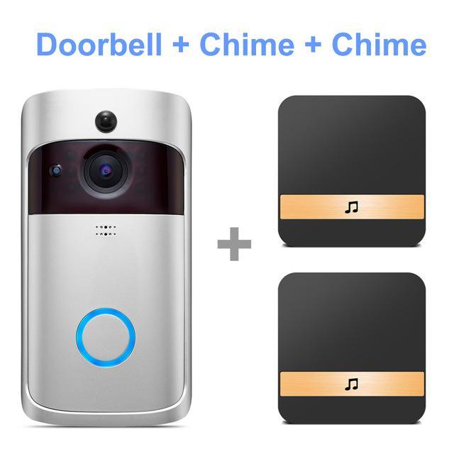 2020 جديد الذكية الفيديو الجرس hd باب الباب إنترفون IP اللاسلكية WiFi باب جرس مرئي أمن الوطن مراقب الأشعة تحت الحمراء للرؤية الليلية