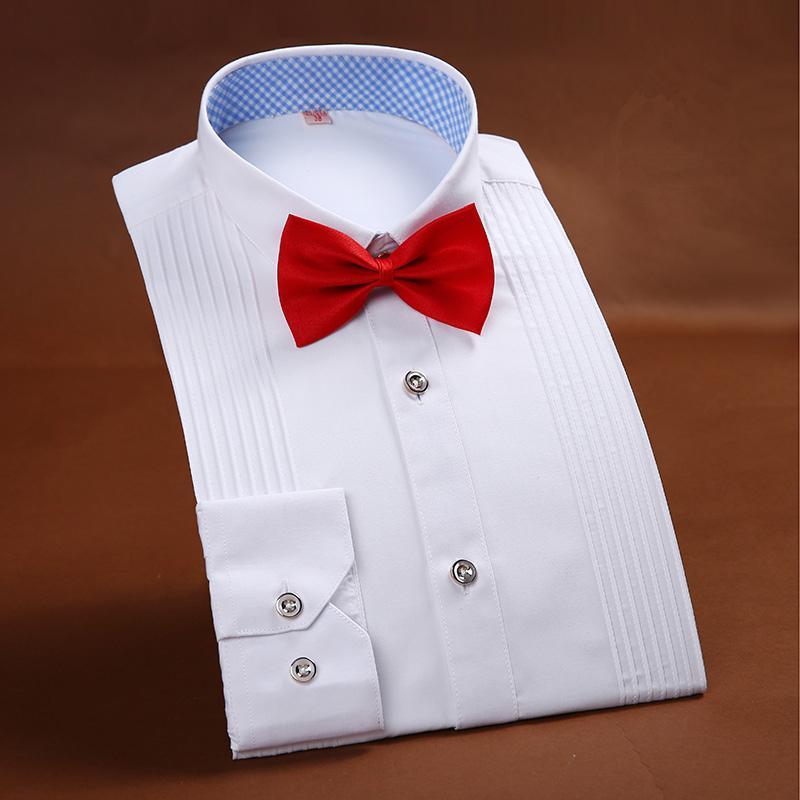 Yeni Geliş Erkek Giyim Fransız Stili Düğün Tuxedo Gömlek Erkek Gömlekler Damat Gömlek Modelleri fz2690