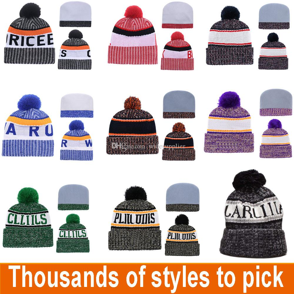 EveryYear Designer Winter Hat Team Beanie Knitted Designer Hat All Sport Teams Baseball Football Basketball Beanies Hats Cap Can Mix Orders