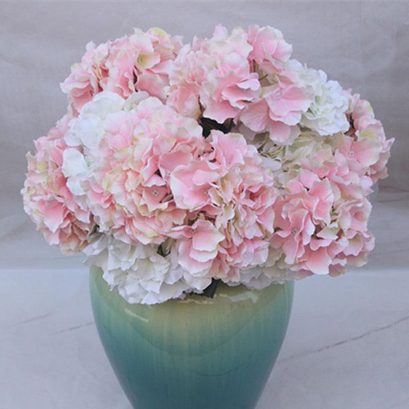 5 fork Heads Artificial Flowers Hydrangea Bouquet Silk Flower Real Touch Fake Flower For DIY Home Wedding birthday Decor P10