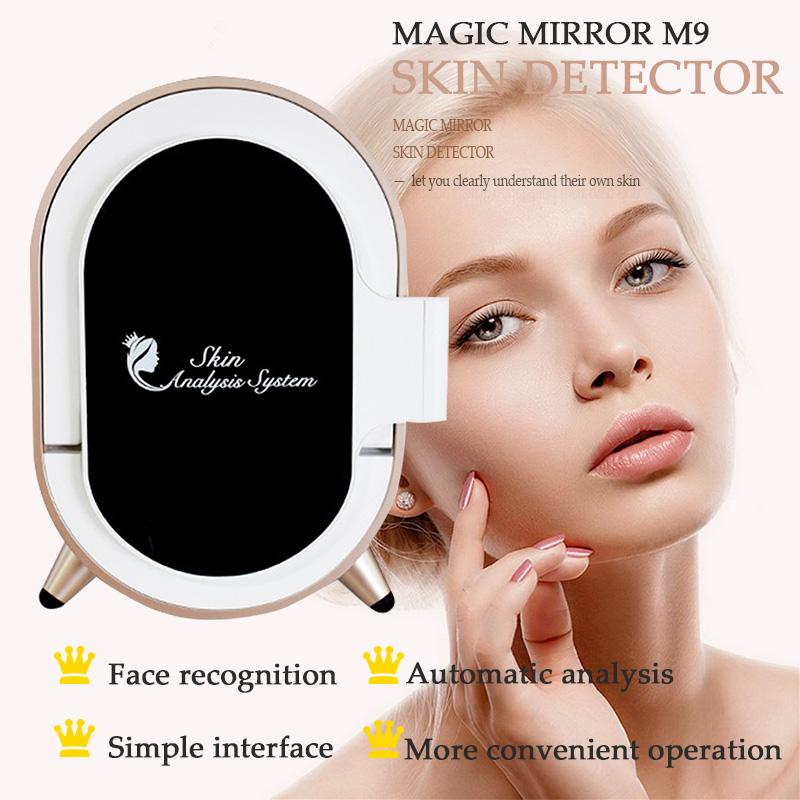 Skin testing analysis machine Beauty Skin Analyzer Magic Mirror M9 10.1Inches Automatic recognition of eyes nose mouth and eyebrow