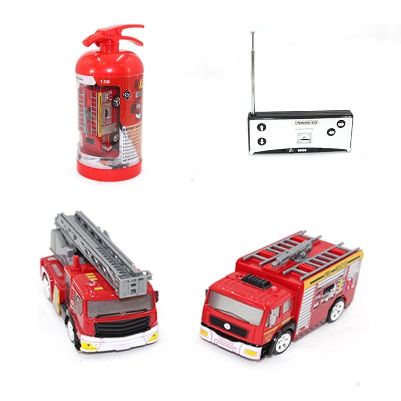 RC Автомобиль 1:58 мини-пульт дистанционного управления пожарная машина пожарный модель автомобиля нефтяной танкер игрушка мальчик автомобиль дети образование подарок 2 типа