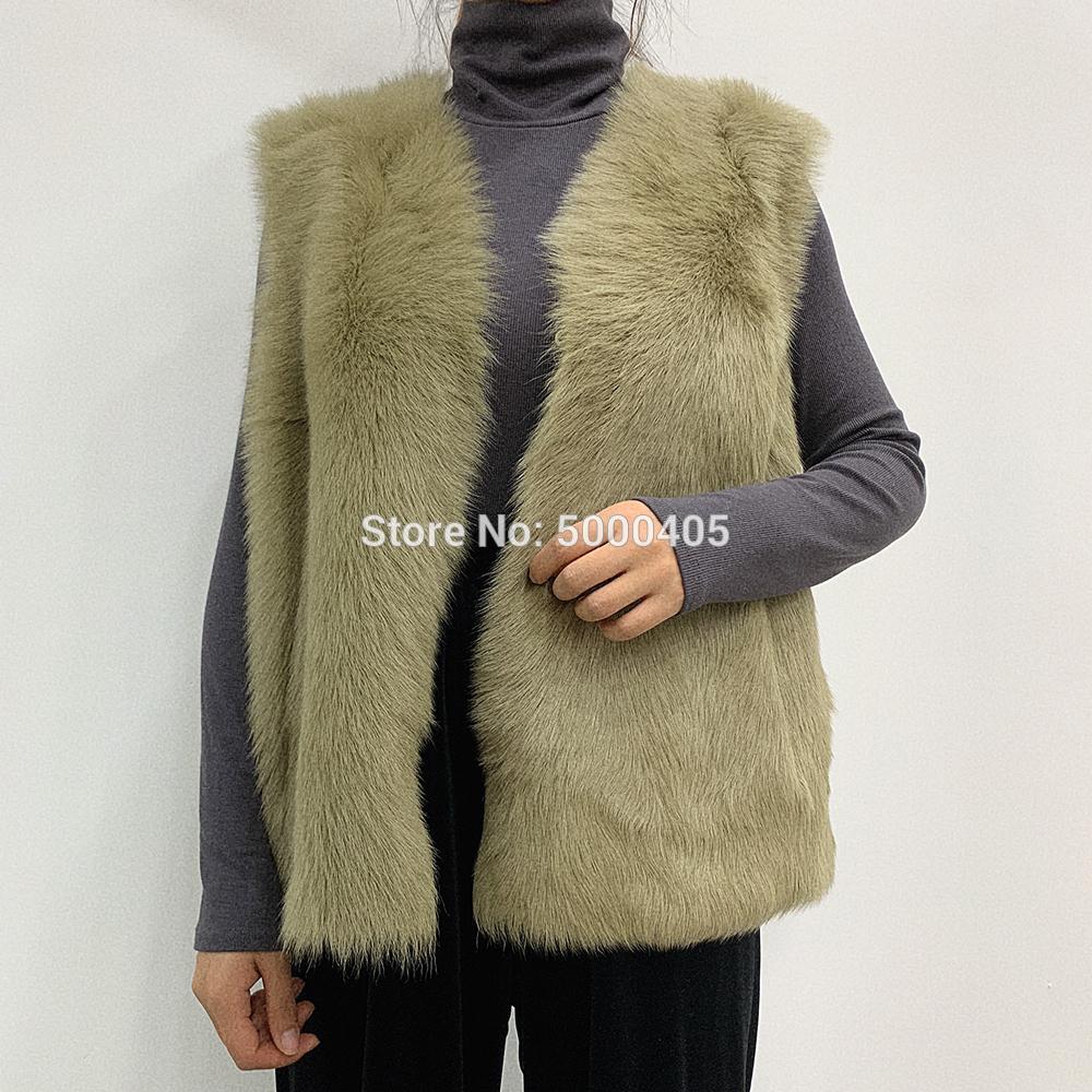 4 colores AU1052 populares invierno chaleco de piel de oveja de piel verde Toscana capa del chaleco sin mangas de las mujeres del invierno