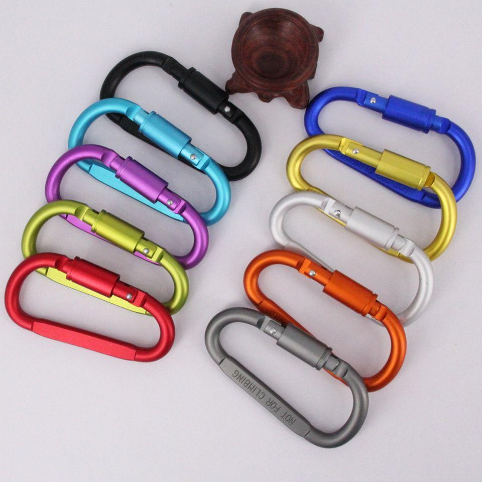 С замком Карабин высокого качества Цвет D Форма алюминиевого сплава пряжки Висячие Пряжка Крючки брелоков Открытый Отдых Туризм Tactical Tools 8 #