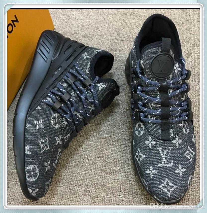 Homens Sapatos Pontapé Fantasma $ Lo Top Materiais Lace-Up Sports Shoes Vintage Calçados Moda Chaussures pour hommes Inverno Drop Ship