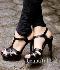 New Tribute Sandali sexy Sandali stiletto scarpe da donna T-line con sandali con tacco alto scarpe da donna scarpe basse pelle originale
