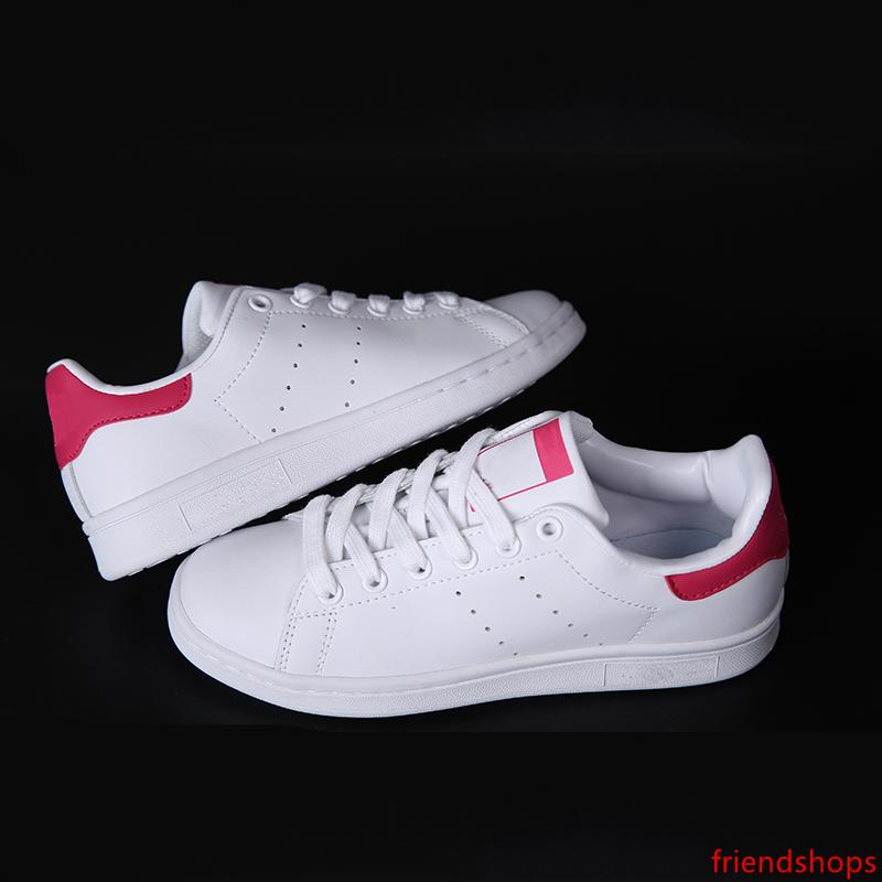 Discount new mens stan smith loafers classic leather breathable College red casual shoes for women best Stan Smith shoes with size36-44