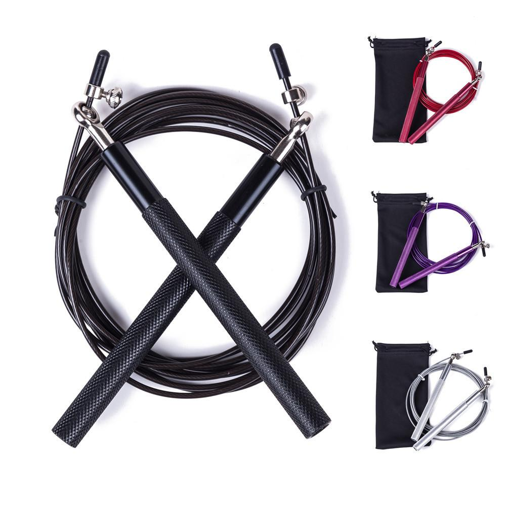 Crossfit Speed Jump Rope 3M METAL BEARING Handle Professional Skipping Rope For corda rope Boxing Fitness Skip Workout Training T191216