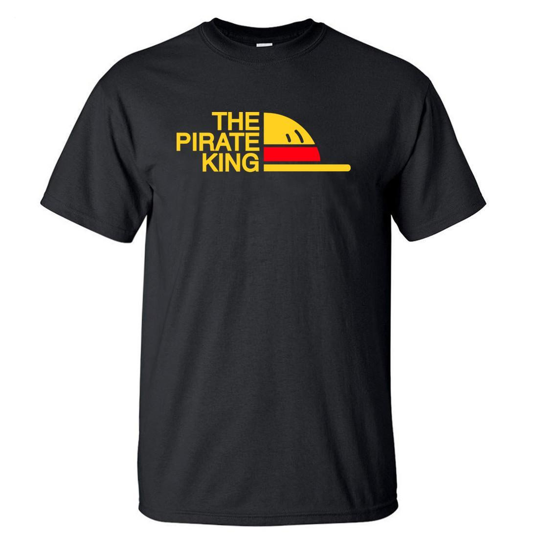 Бренд Футболка Мужчины Пиратский Король футболка Мужская Луффи Футболка Летние Тройники Японский Аниме Хлопок с коротким рукавом Мужчины S-3XL