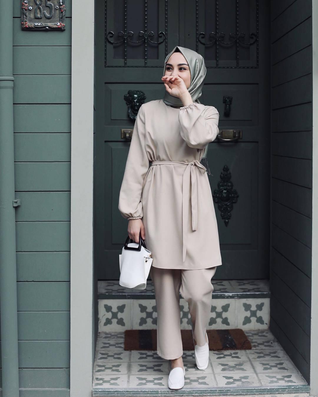 WEPBEL Plus Size do comprimento longo vestido + completa Calças Vestuário muçulmano Set Mulheres cor sólida soltos Sets Roupa das senhoras