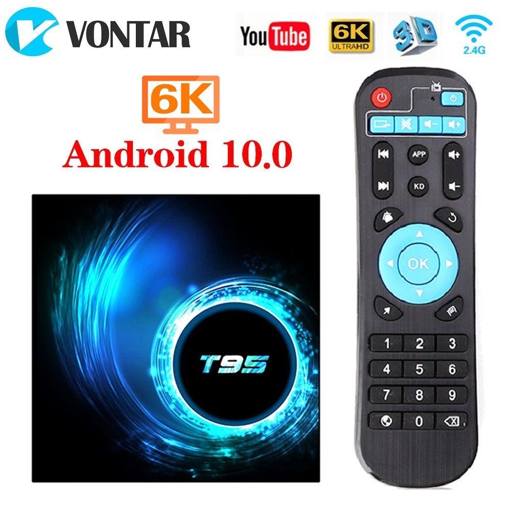 T95 Android 10.0 TV Box Allwinner H616 4GB 64GB 2.4G Wifi USD2.0 6K HDR Set Top Box