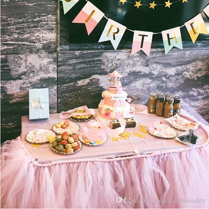 Awe Inspiring Banquet Table Skirt Cloth Muslin Fluffy Birthday Party Shower Personalised Birthday Cards Cominlily Jamesorg