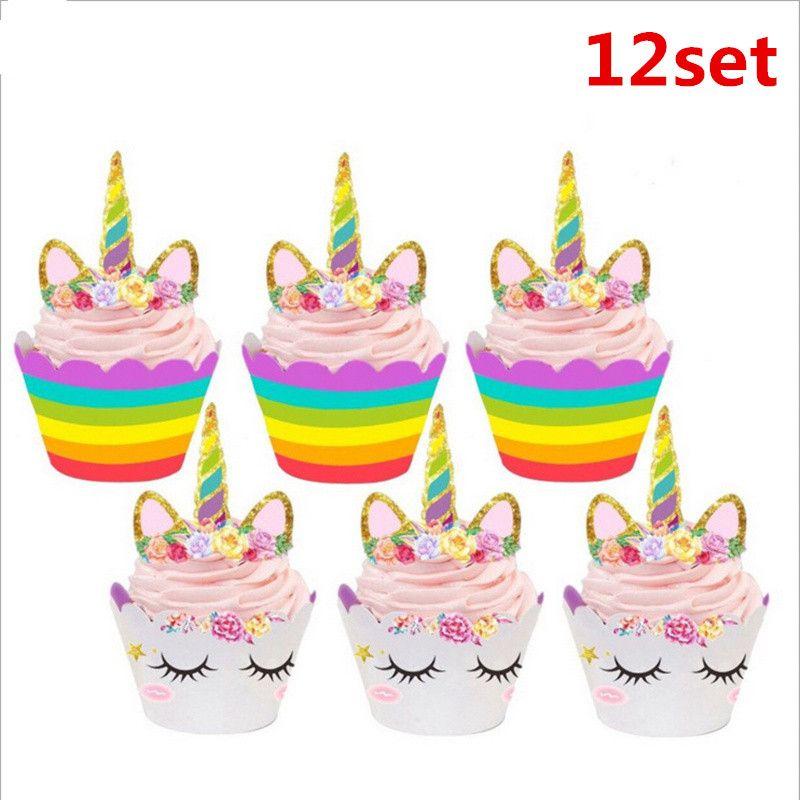 Fabulous Grosshandel Kinder Unicorn Birthday Party Supplies Dekorationen Funny Birthday Cards Online Alyptdamsfinfo