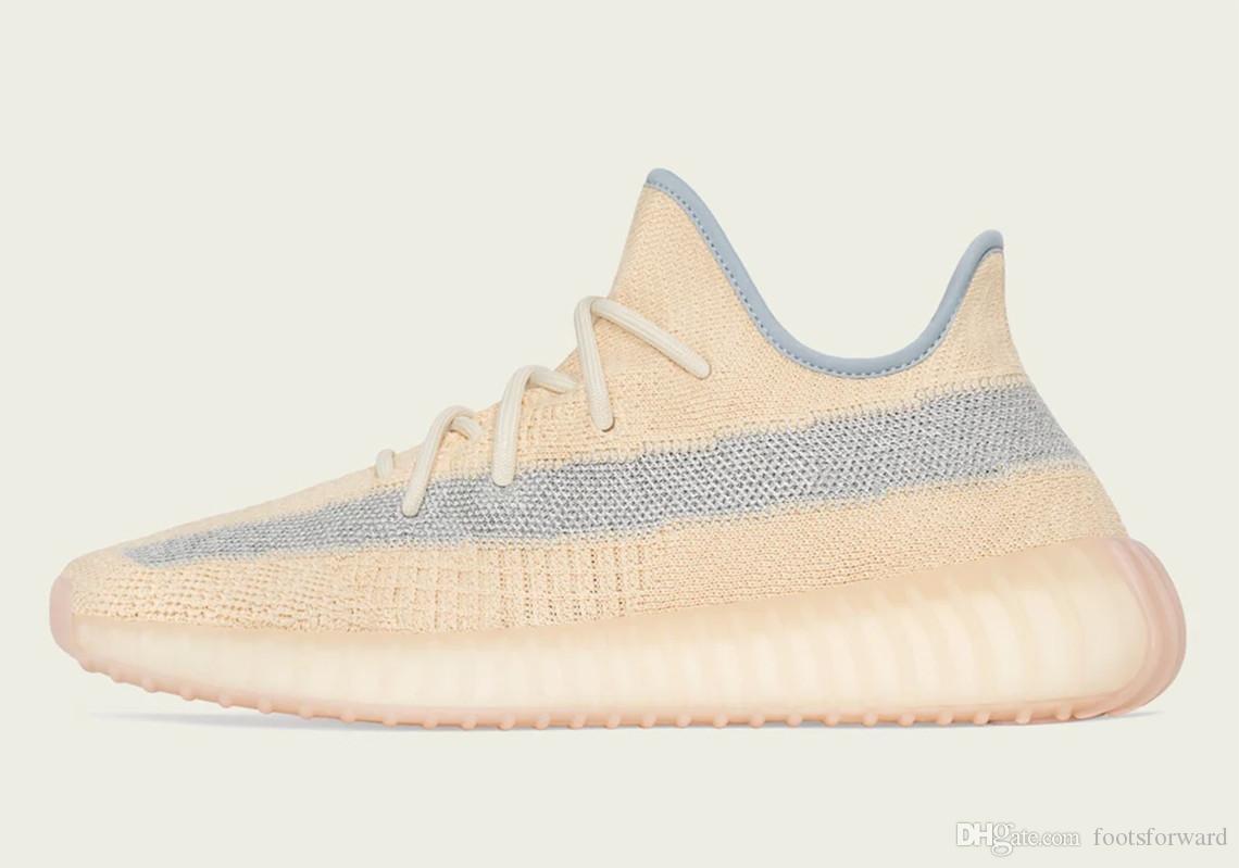 2020 Novo Calçado V2 Linho Desert Sage Shoes Kanye West Homens Mulheres Calçado De Corrida Desporto Ténis De Treino Com Tamanho De Caixa 36-48 Eur