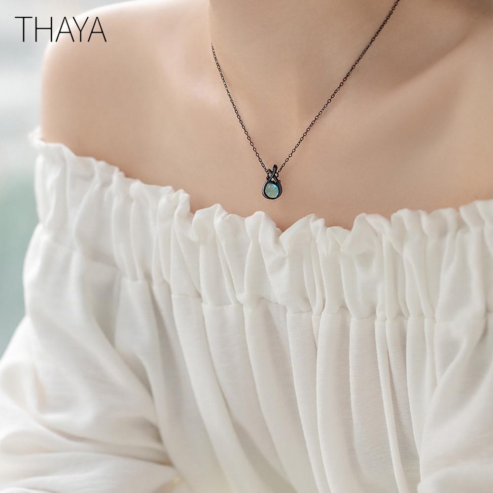 Thaya Original Design Sleeping Beauty Necklace S925 Silver Handmade Crystal Short Collarbone Chain Jewelry Gift CX200609