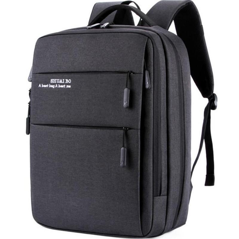 Men Multi Use USB Backpack Oxford Bags College Student Book Bag Large Capacity Fashion Travel Backpack Men Mochila Male