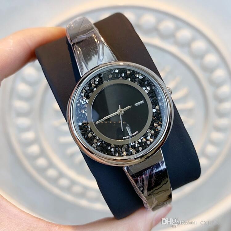 Yeni stil kadın Moda Lüks kol saati paslanmaz çelik Lady Elbise kaliteli kuvars dişi saat Relojes De Marca Mujer saatler izle