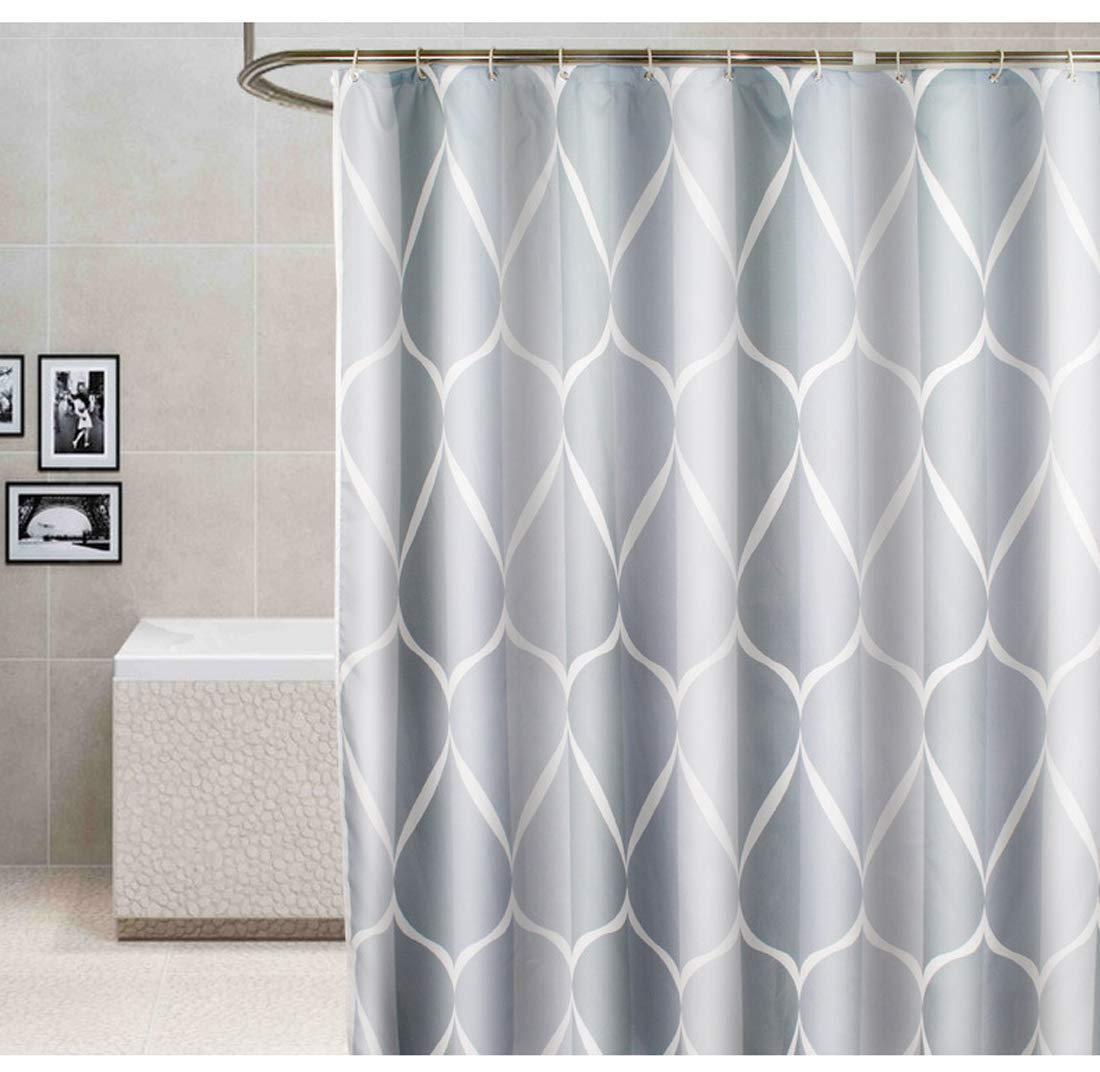 Big tree mildew thick waterproof fabric shower curtain home decoration mat set