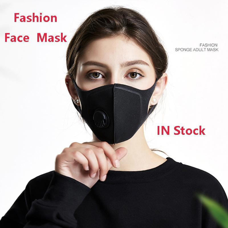 الجملة قناع الوجه قناع الغبار مكافحة التلوث أقنعة PM2.5 الكربون المنشط تصفية إدراج يمكن غسلها قابلة لإعادة الاستخدام الفم أقنعة شحن مجاني DHL