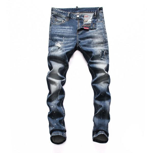 2020 Mens Distressed Skinny Jeans Slim Fit Motociclista Denim For Men Moda Designer Hip Hop mens corredores Boa Qualidade