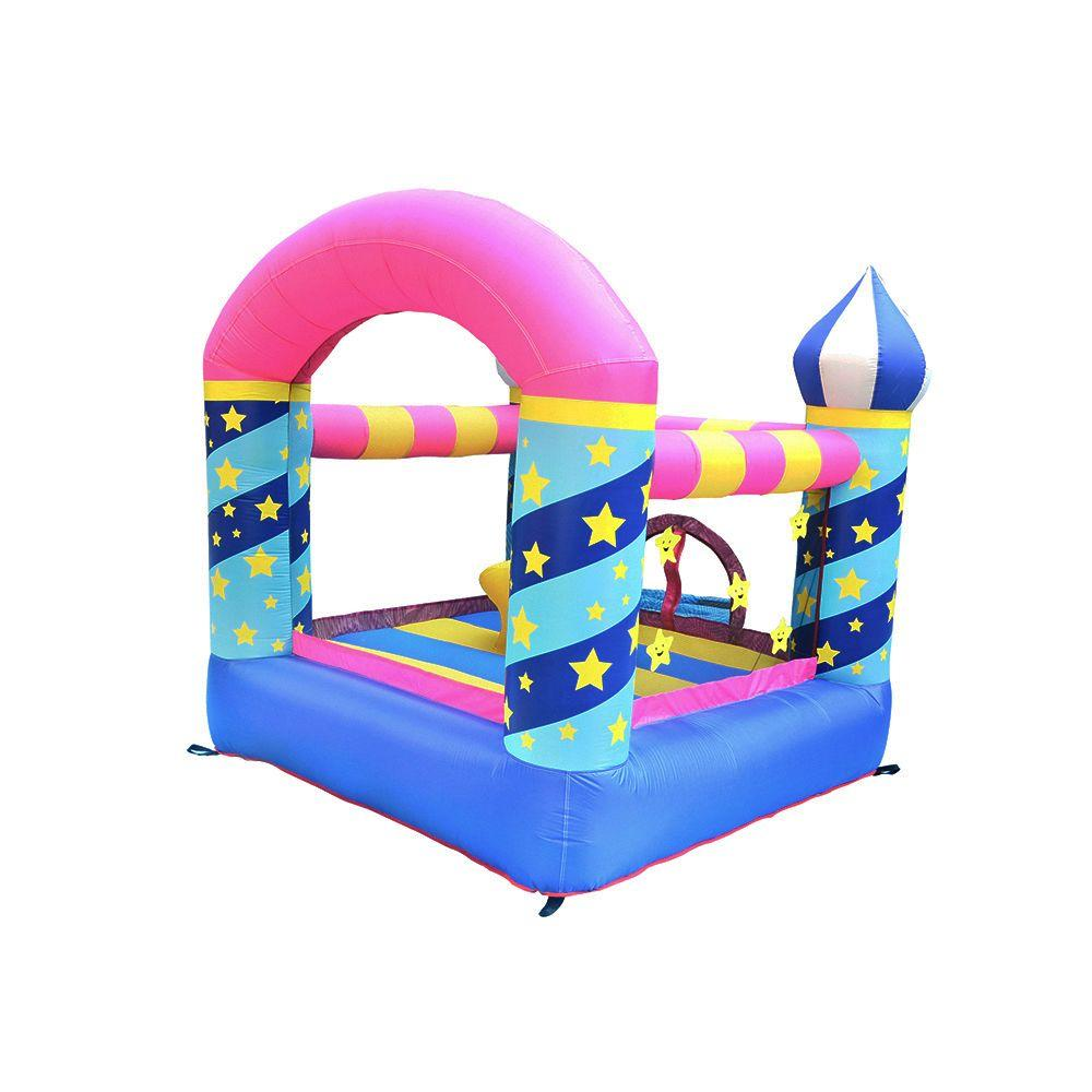 Family Bouncy Castle Commercial Inflatable Star Bouncer Kids Bounce House for Birthday Party with Air Blower