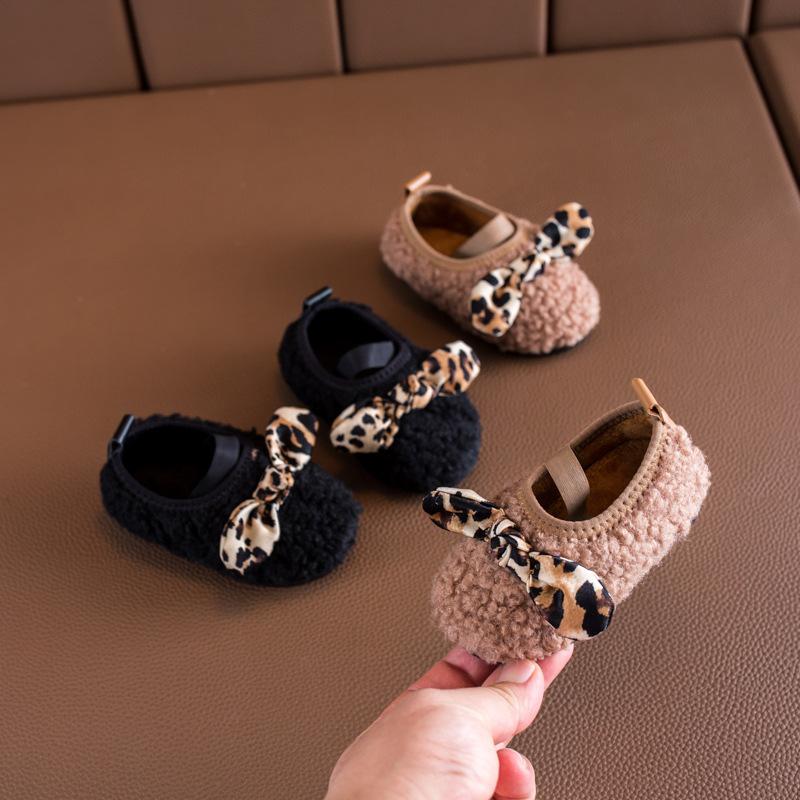 Baby Girl Meninas inverno Casual Fur algodão Sapatos Princesa Beanie Shoes Bebê Infantil