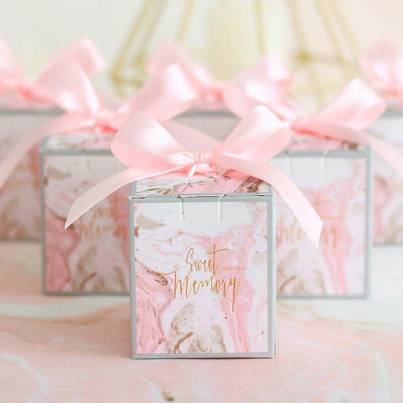 리본 초콜릿 상자 선물 상자 선물 상자 결혼식 기념품 가방 아이들 생일 선물 결혼식 호의 및 선물과 사탕 상자