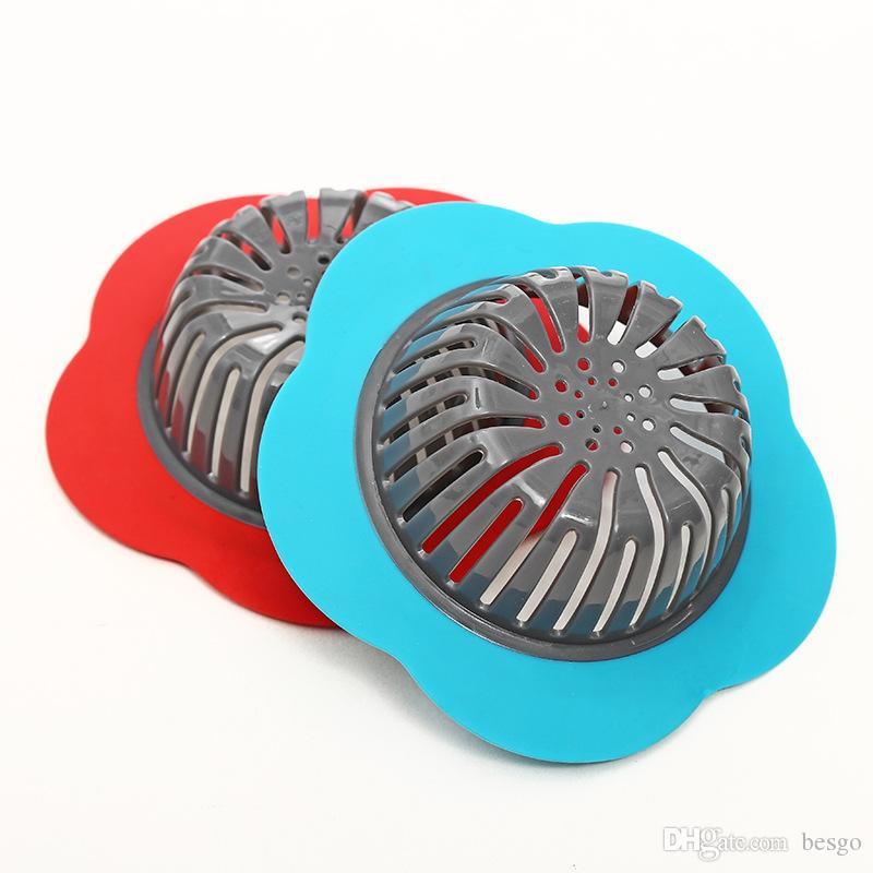 تصفية البلاستيك صنبور المطبخ بالوعة الطابق استنزاف بالوعة الحمام مكافحة انسداد زهرة نوع تصفية مرحاض بالوعة VT0337