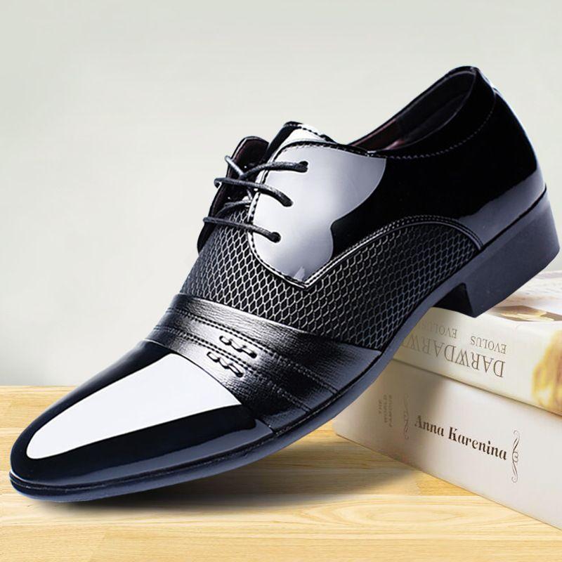 Men Dress Shoes Men Business Flat Shoes