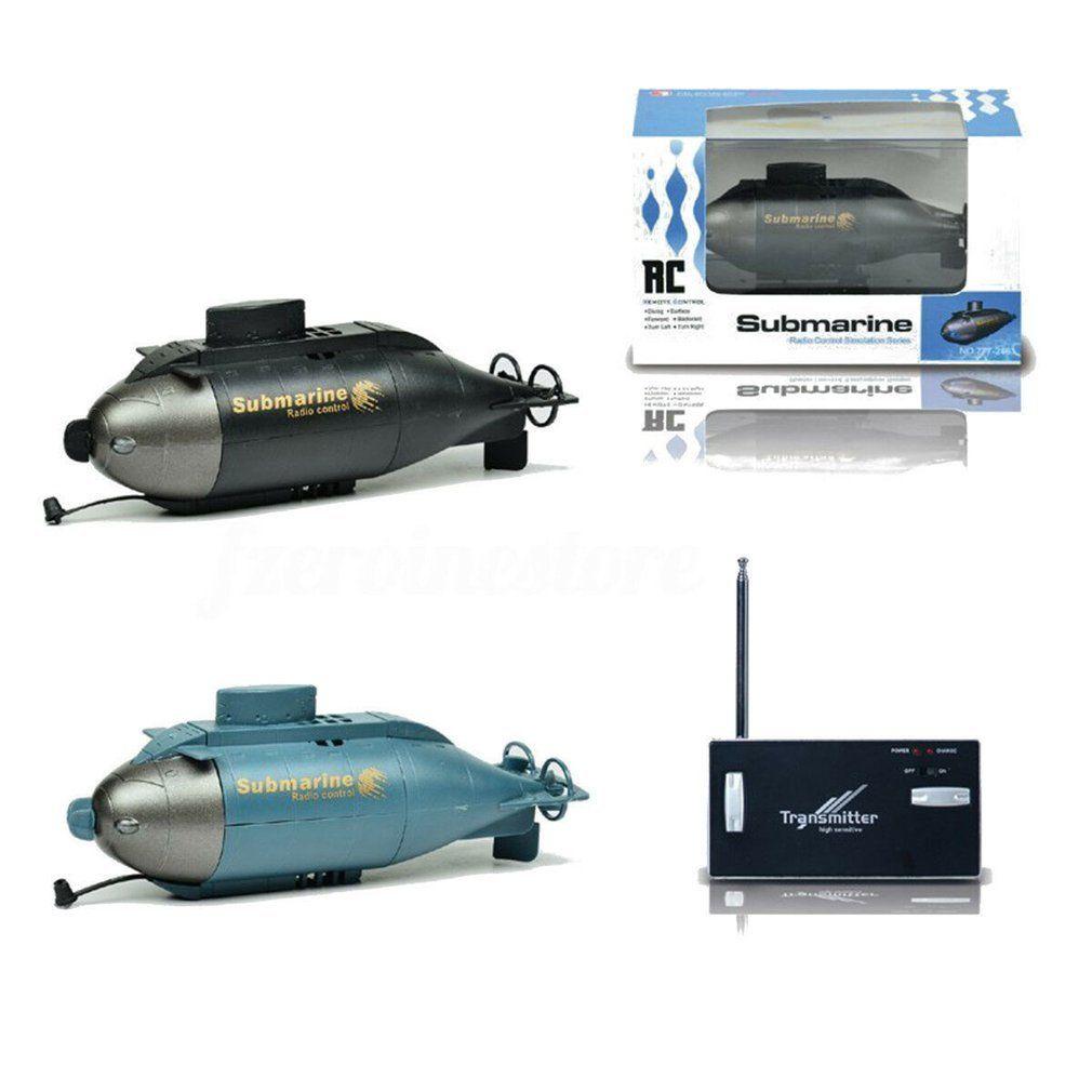 Подводная лодка Pigboat пульт дистанционного управления лодка со светодиодной подсветкой RC подарочные цвета водонепроницаемая игрушка Y200317
