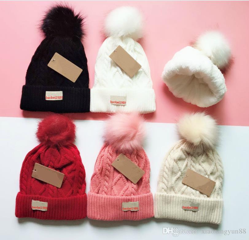 2019 Autunno Inverno Unisex cappello di lana moda casual marchio skullies Berretti cappelli per uomo donna Berretto design a righe