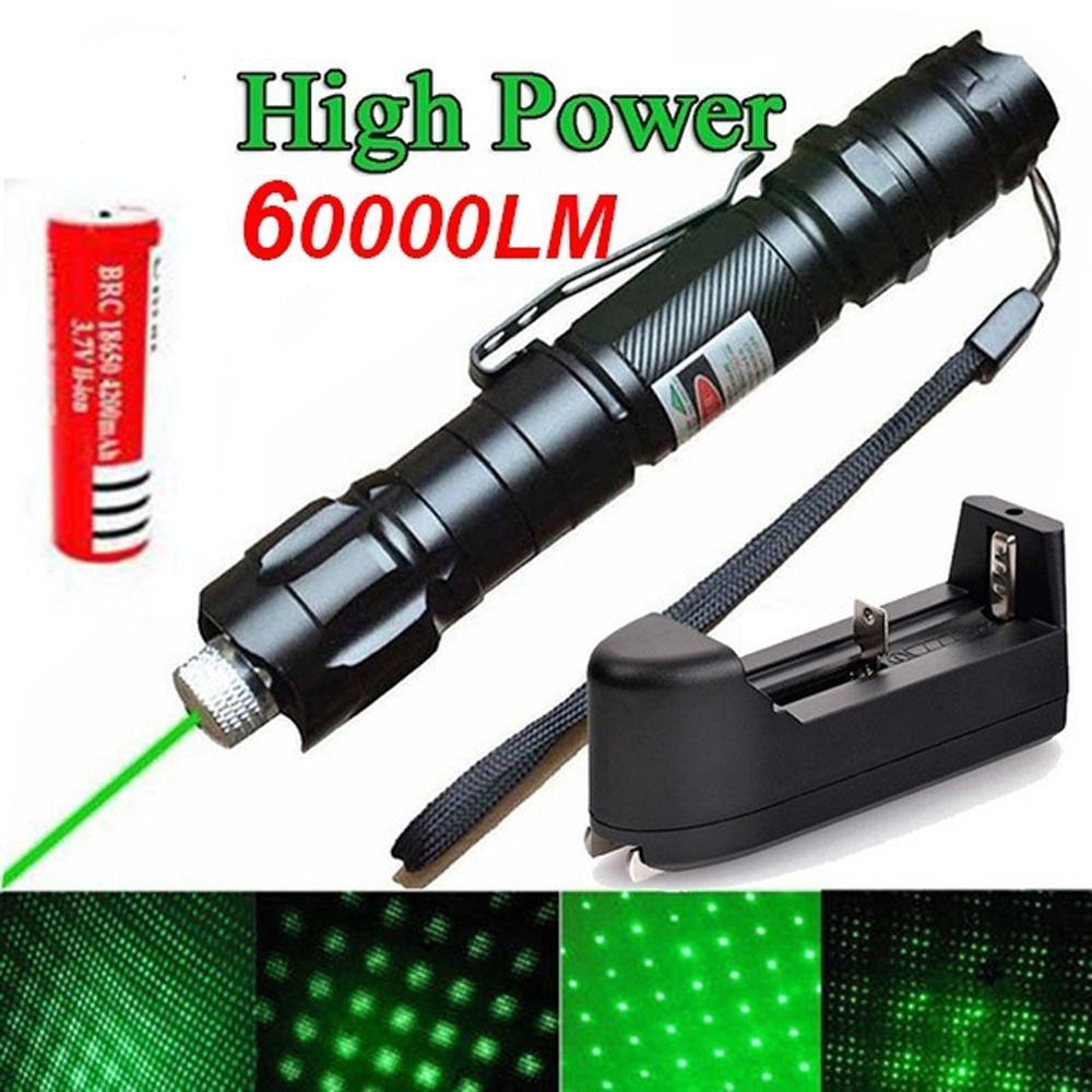 Yüksek güç yeşil lazer 10000m 5mW oyunu ücretsiz nakliye yanan uzun mesafe lazer görüş güçlü yıldızlı gökyüzü açık asılı