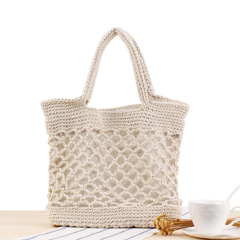 Lovevook delle borse delle donne sacchetti tessuti estivi borse da spiaggia borsa a tracolla tote grande per i viaggi / lo shopping corda di cotone Boemia 2020 vuoto