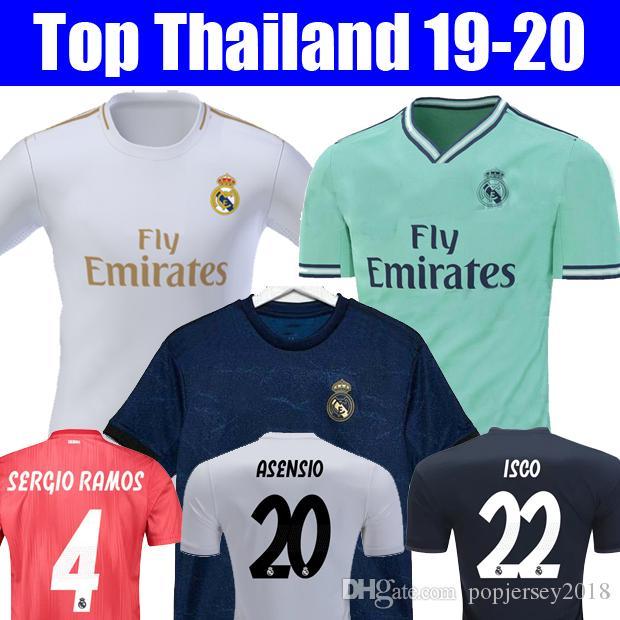 best website e7c20 746d9 2019 Thailand 18 19 20 Real Madrid 2019 2020 EA Sports Jerseys MARIANO ISCO  Soccer Jerseys MODRIC Football Kit Shirt MEN WOMEN KIDS Camisetas From ...