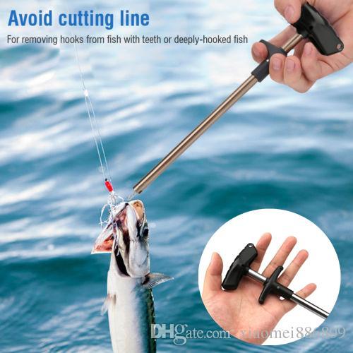 Easy Fish Hook Remover Angelwerkzeug Minimierung von Verletzungen Werkzeuge Gegen Squeeze NEU