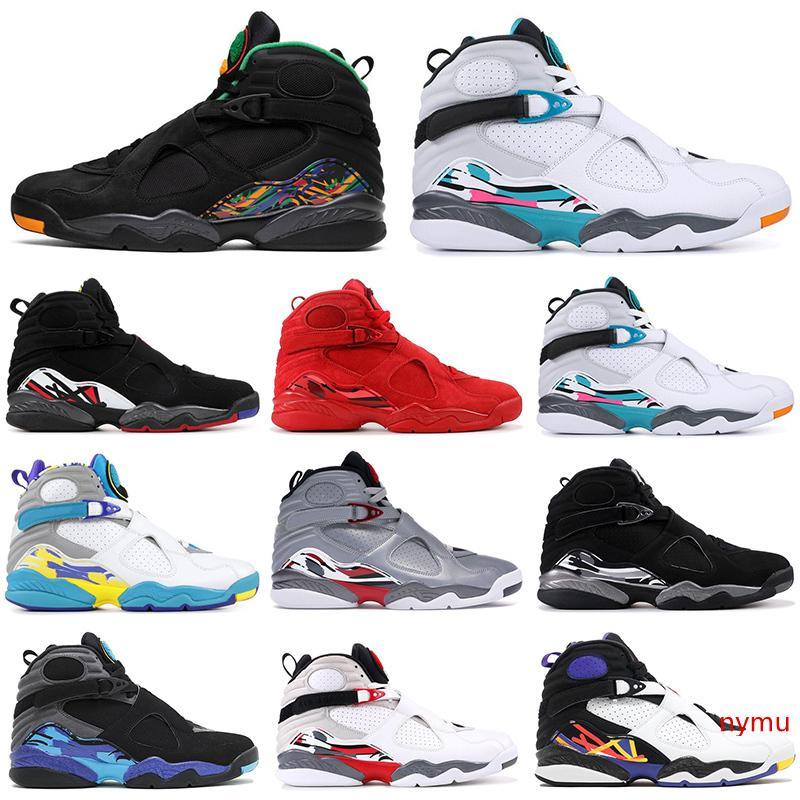 2019 Venta al por mayor 8 8s Zapatillas de baloncesto hombres DÍA DE SAN VALENTÍN Tinker AQUA Reflections PLAYOFF Tres PEAT diseñador para hombre zapatillas deportivas