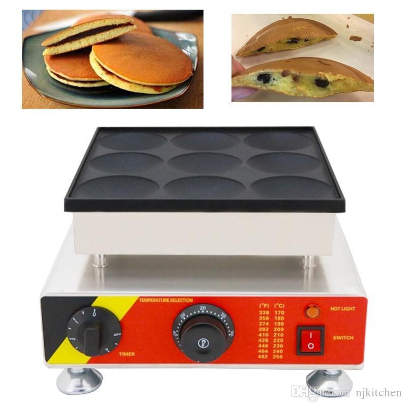 Ticari yapışmaz Dorayaki Waffle Baker 110 v 220 v Hollandalı Gözleme Poffertjes Maker Mini Krep Makinesi Izgara Tava Tabağı