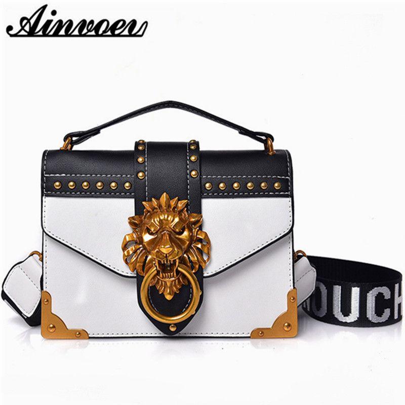 Ainvoev 2019 Bolsas Cruzado para las mujeres bolsos de cuero de lujo de los bolsos women del diseñador famoso marcas señoras de hombro del bolso de Sac
