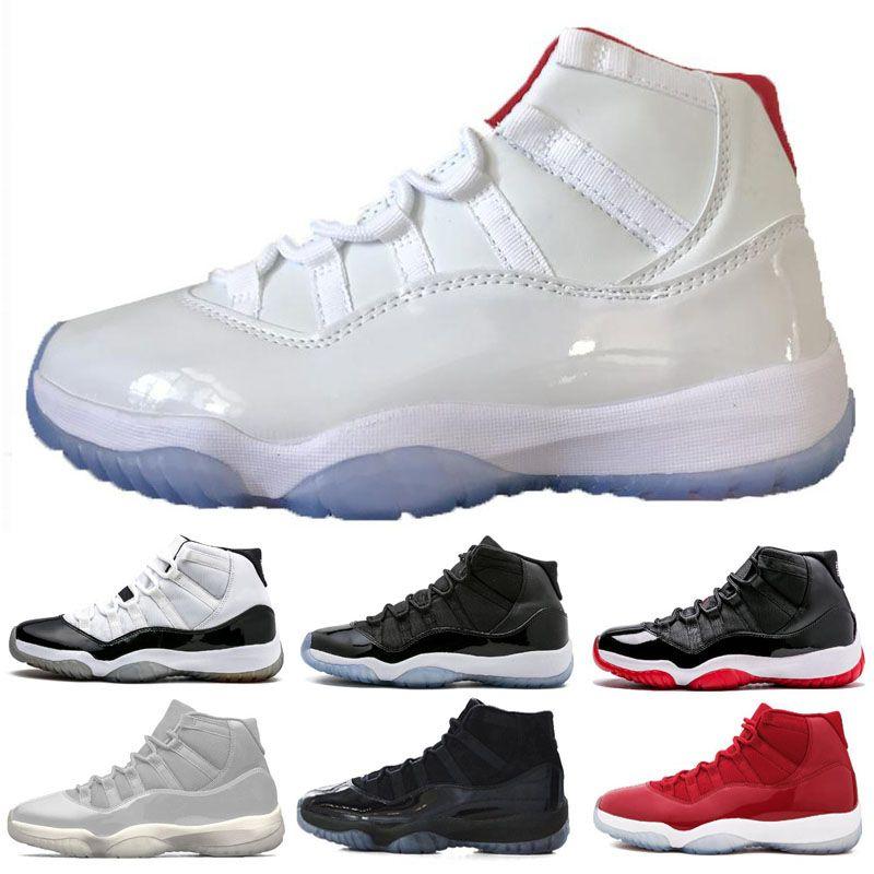 11 11 XI Platine Teinte Hommes Chaussures De Basketball Casquette et Robe De Bal De Nuit Gym Red Bred Barons Concord 45 Cool Gris mens baskets de sport designer