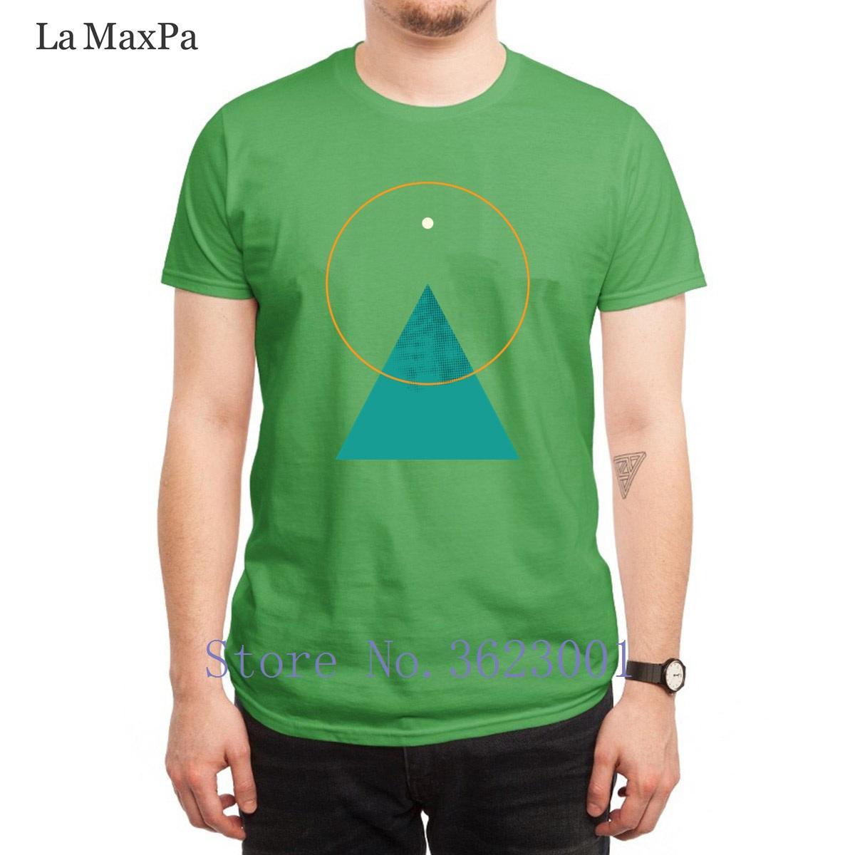 Personalisierte Normale T-Shirt Berg und Sun Men'ss T Shirt Tailliertes Herr T-Shirt Neueste Euro-Größe S-3XL Hiphop Top