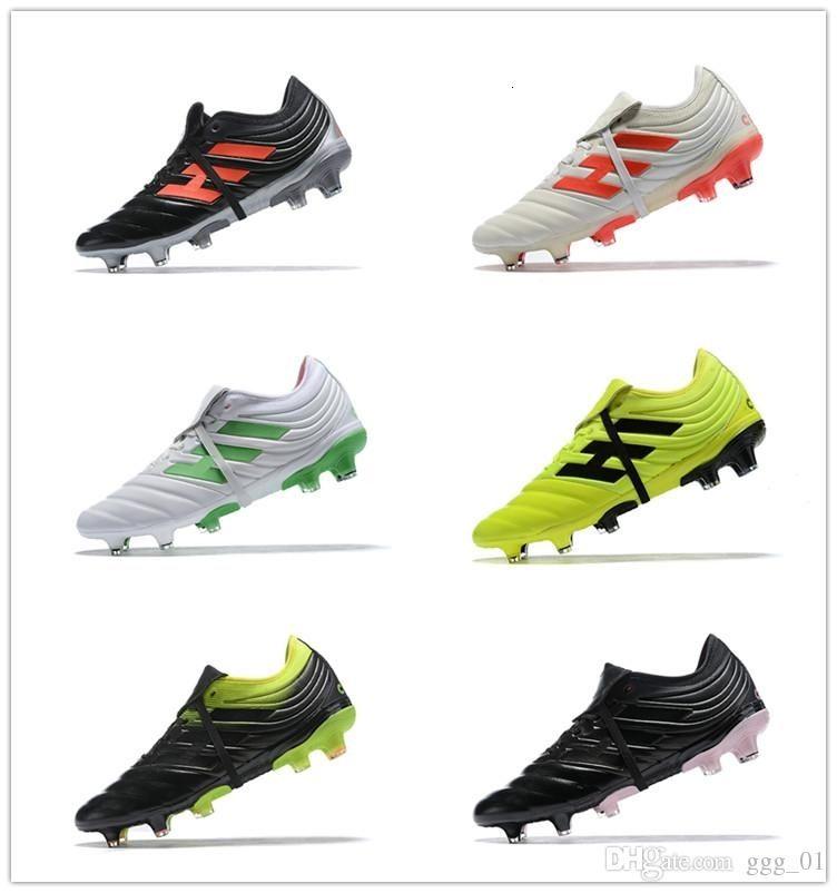 2019 Discount Mens Champagne solaire Copa 19,1 FG Football Crampons Coupe du monde de football Chaussures style classique Copa Neymar Bottes Football Mundial