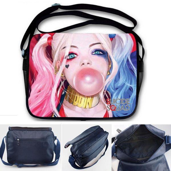 Fashion Shoulder Bag Synthetic leather Suicide Squad Rivet Shoulder Handbag