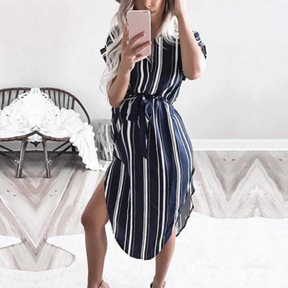 Moda vestidos de maternidad Marina rayas O-Cuello Vestido sin mangas Vestidos Embarazo Fotografía ropa del verano para las mujeres embarazadas