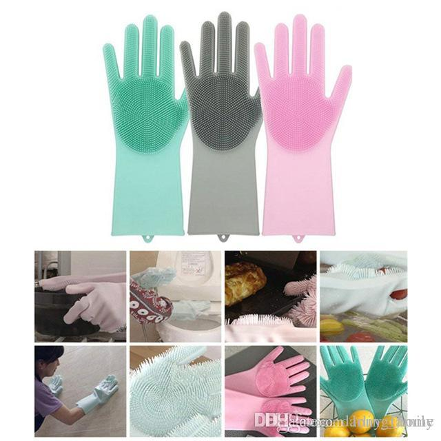 pink kitchen decorating ideas.htm 2019 silicone dish scrubber rubber gloves brushes cleaning tools  silicone dish scrubber rubber gloves