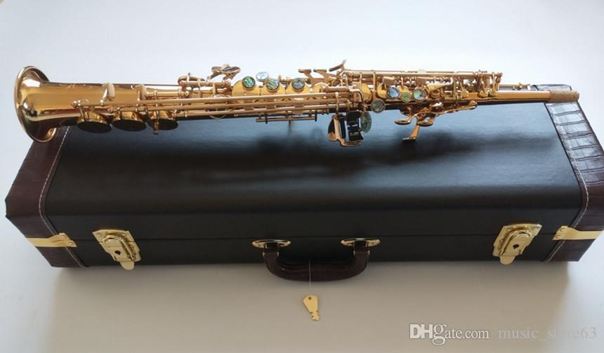 ياناجيساوا S-901New سوبرانو الساكسفون B شقة الكهربائي الذهب أعلى آلات موسيقية ساكس سوبرانو الاحترافية مع حالة