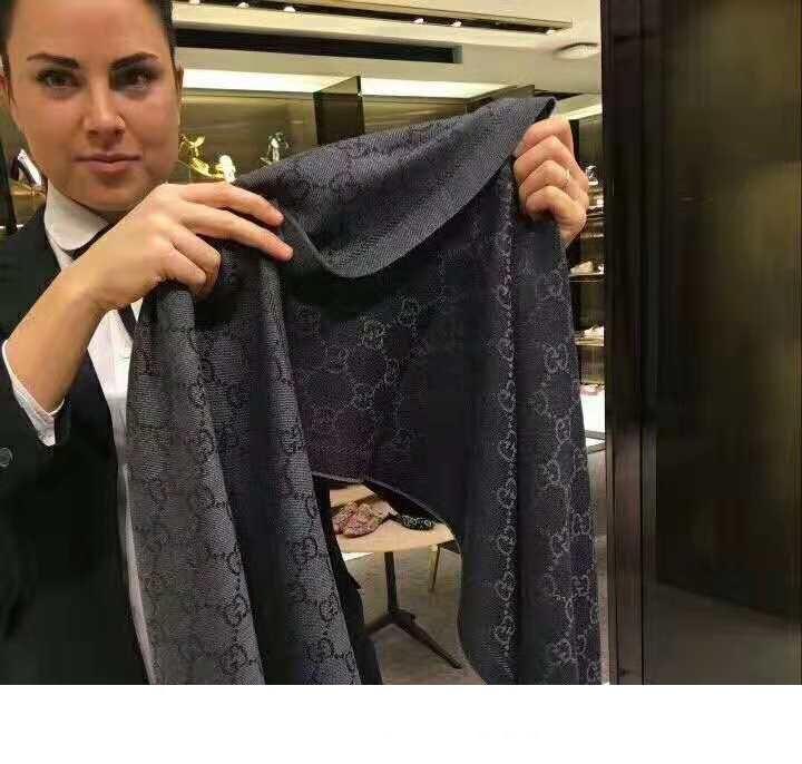 Bramnded Femmes Jacquard Motif tricot écharpe Concepteurs Hommes Lettre Fringe Edges Cachemire Echarpes mode 45 * 180cm Châle