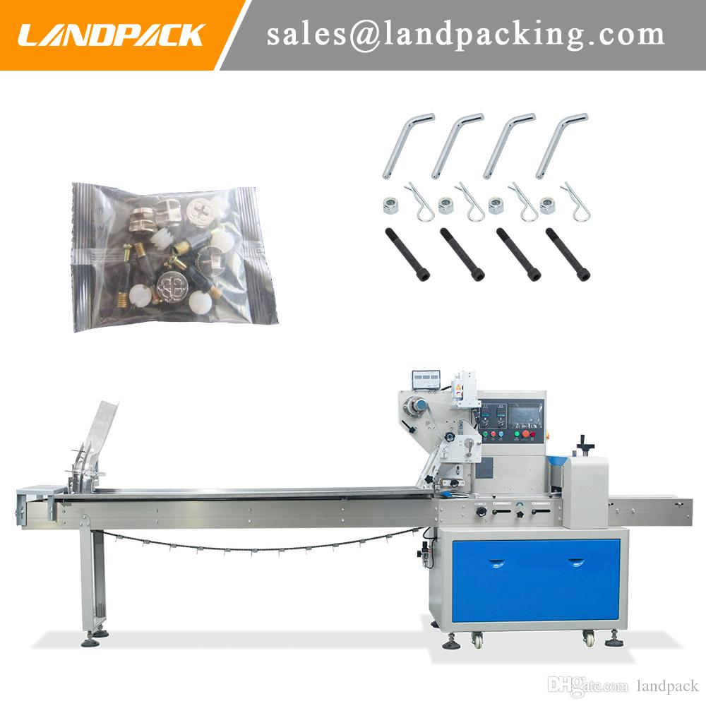 Machine horizontale de paquet d'écoulement d'accessoires de sac d'accessoires de matériel commode et pratique