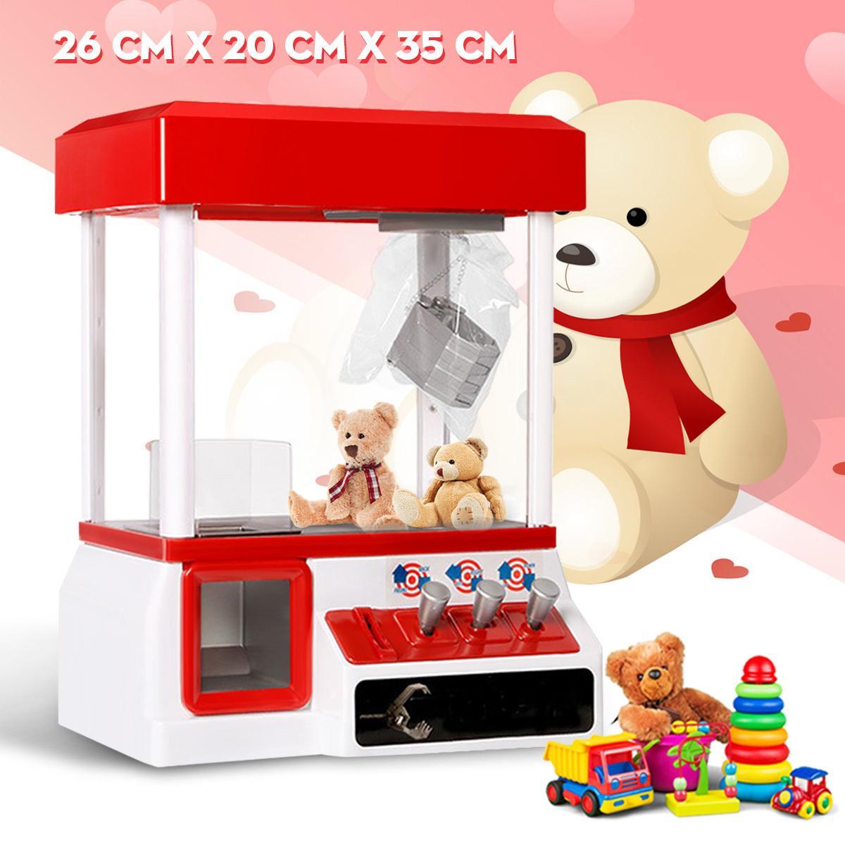 음악과 조명 패션 클립 인형 기계 Y200428와 카니발 스타일 자동 판매기 아케이드 클로 캔디 그래버 상 머신 게임 어린이 장난감