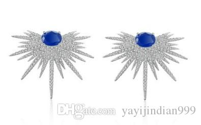 chaming 925 silver more color crystal zircon diamond angel wing lady's Earrings (28.8)hnjhj